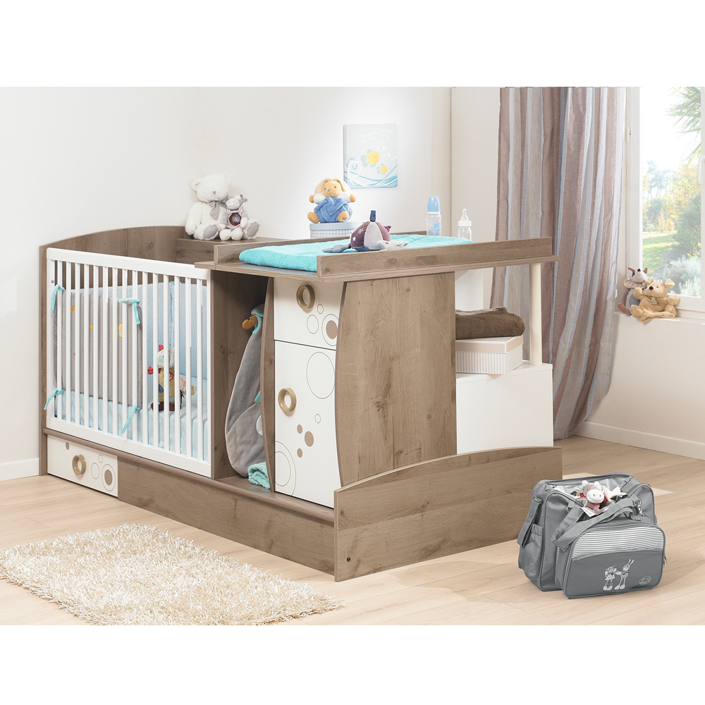 Oxygene compact convertible cot bed mummybebe for Compact beds
