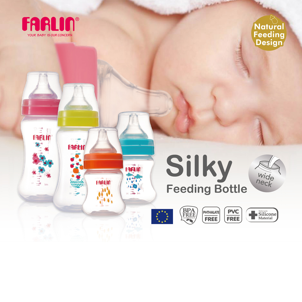 Farlin Silky Pp Feeding Bottle Mummy Bebe
