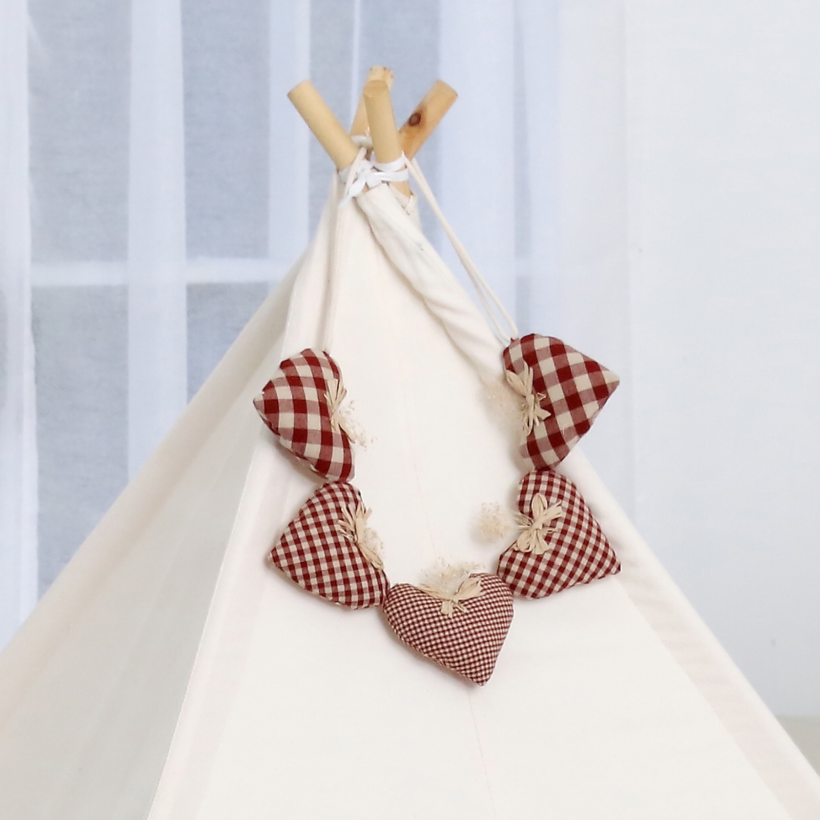 Aguard Teepee Tent Accessories Brown Check Mummy Bebe