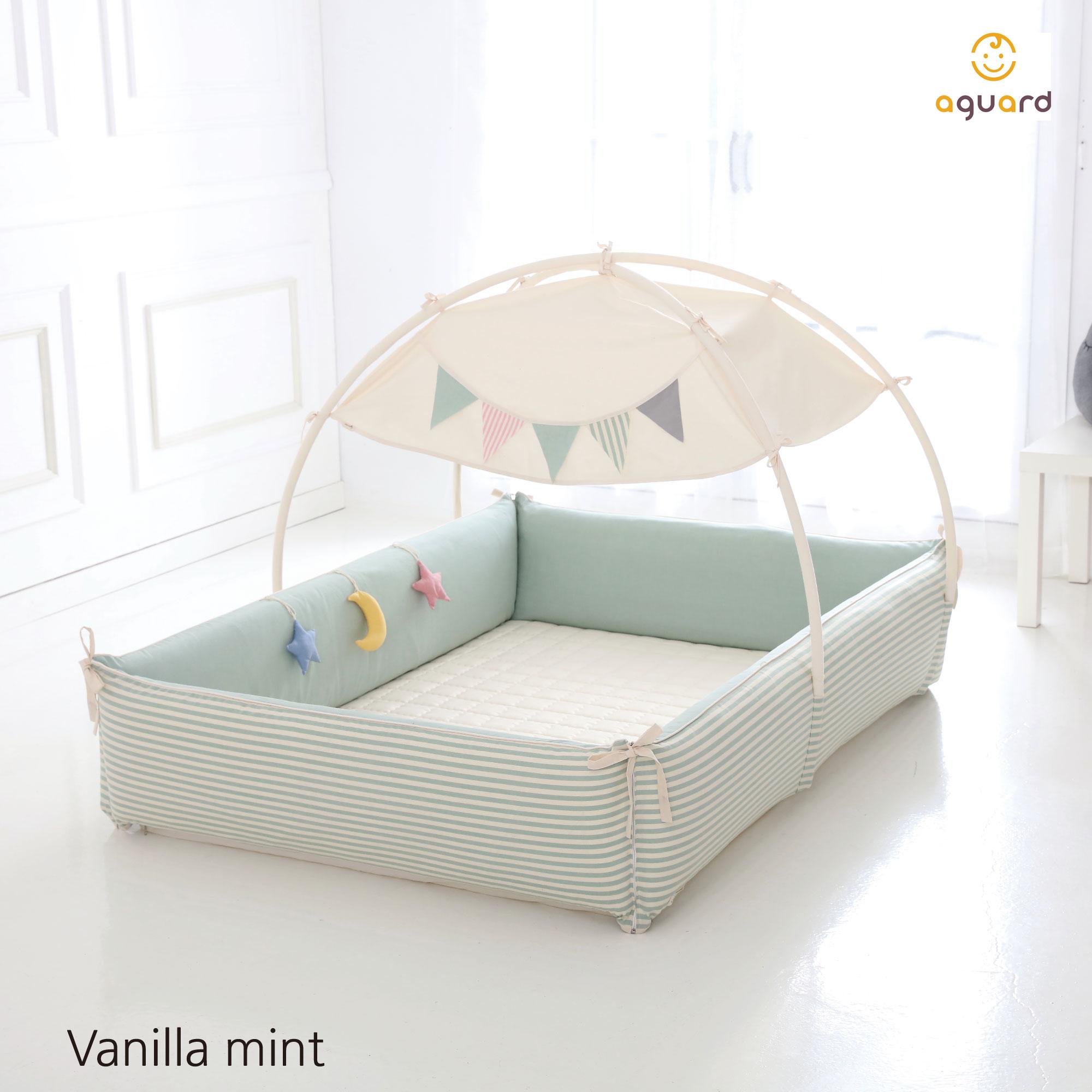 AGUARD Bumper Bed - Vanilla Mint - M |Mummy Bebe
